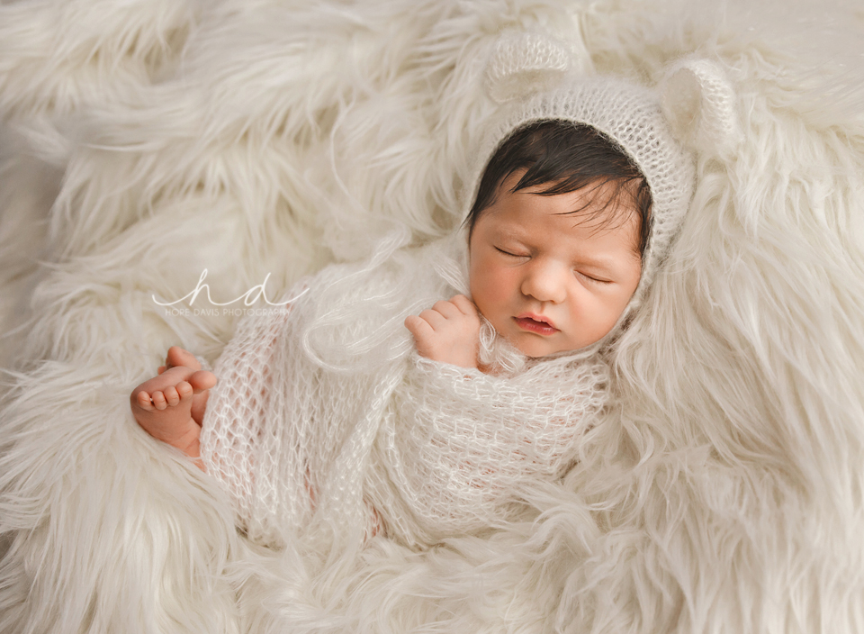 baby bear bonnet newborn photography