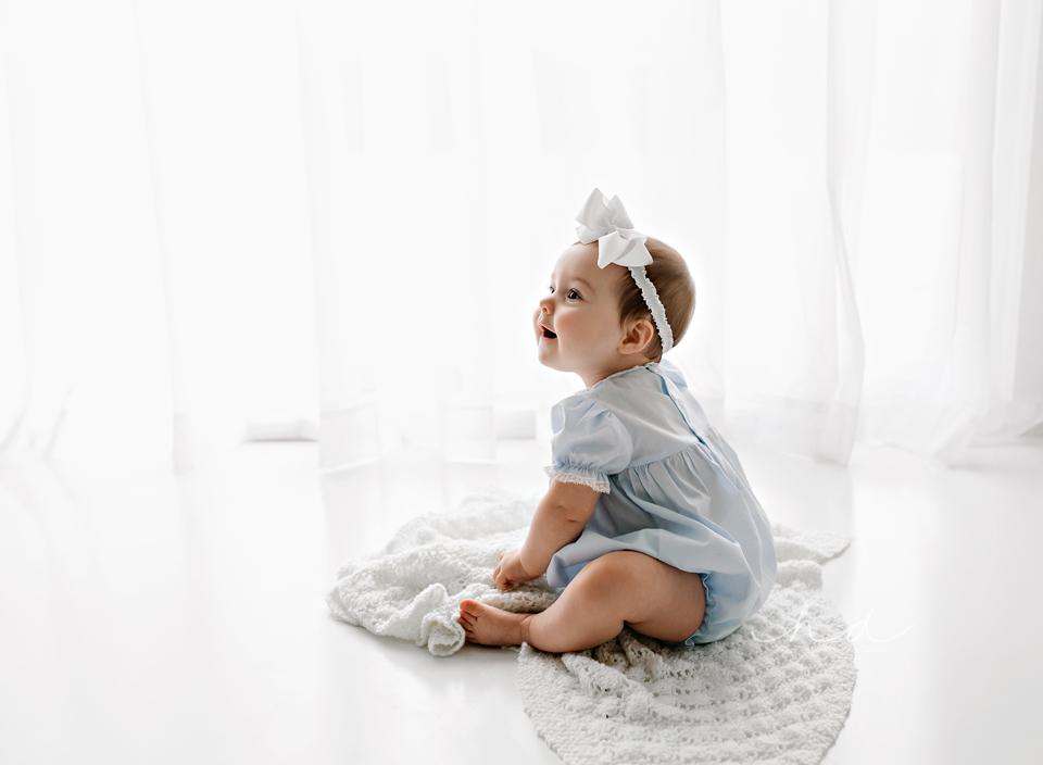 back lit baby portrait