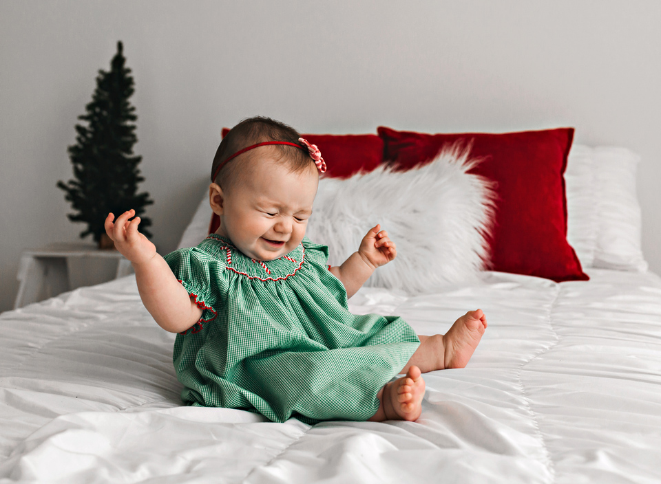 meridian mississippi chirstmas baby photos