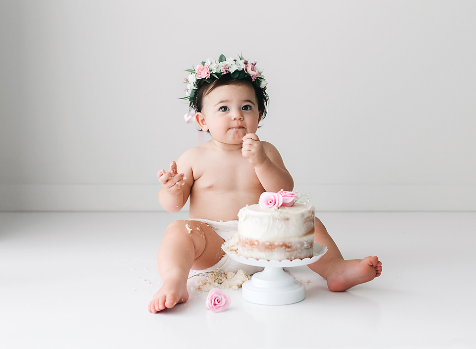 Fine Cake Smash Photo Session Meridian Ms Baby Photographer Hope Funny Birthday Cards Online Alyptdamsfinfo