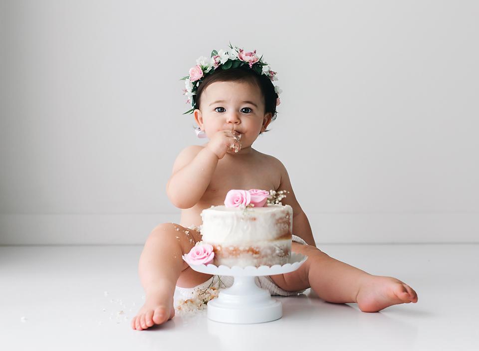 mississippi one year old photographer cake smash