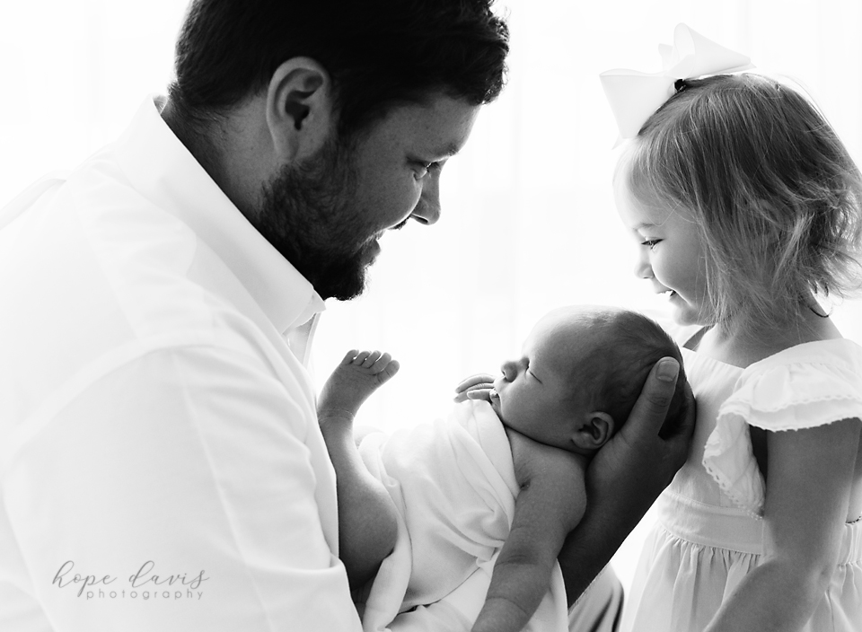 meridian ms newborn and baby photography daddy with baby girls